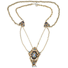 Buy Alice Joseph Vintage 1950s Florenza Revival Gilt V-Drop Necklace Online at johnlewis.com