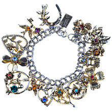 Buy Alice Joseph Vintage 1950s Jewelcraft Diamante Charm Bracelet Online at johnlewis.com