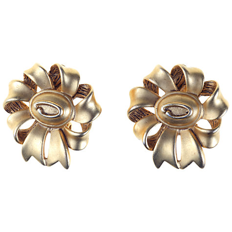 Buy Alice Joseph Vintage 1980s Oscar De La Renta Gilt Metal Ear Clips Online at johnlewis.com