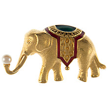 Buy Eclectica Vintage 1980s Monet Gold Plated Elephant Brooch Online at johnlewis.com