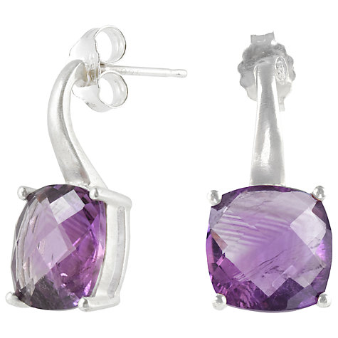 Buy Dower & Hall Sterling Silver and Faceted Amethyst Drop Earrings Online at johnlewis.com