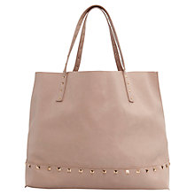 Buy Mango Studded Shopped Handbag, Nude Online at johnlewis.com