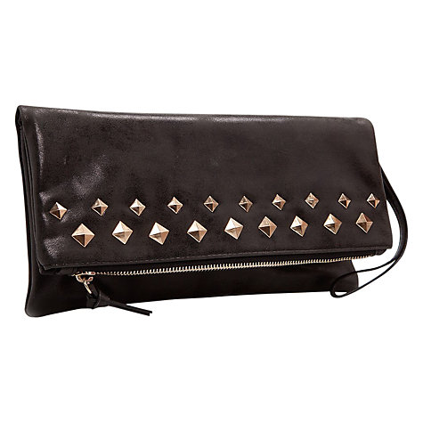 Buy Mango Studded Clutch Handbag, Black Online at johnlewis.com
