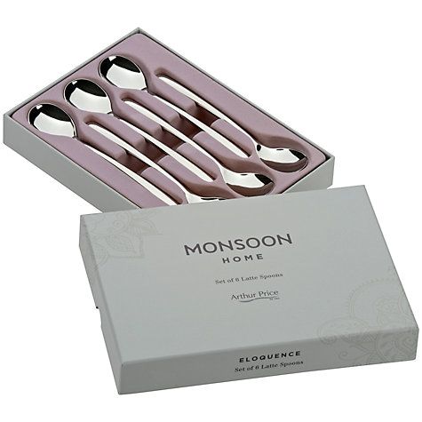 Buy Arthur Price Monsoon Eloquence Latte Spoons, Set of 6 Online at johnlewis.com