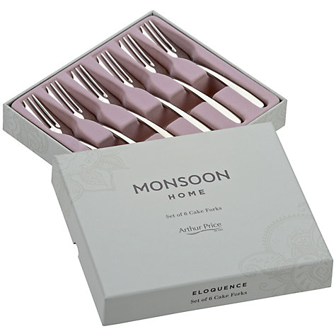 Buy Arthur Price Monsoon Eloquence Pastry Forks, Set of 6 Online at johnlewis.com