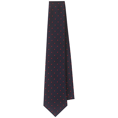 Buy Aquascutum Polkadot Silk Tie Online at johnlewis.com