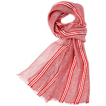 Buy Aquascutum Highlight Fine Stripe Scarf Online at johnlewis.com