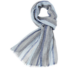 Buy Aquascutum Stripe Pattern Scarf Online at johnlewis.com