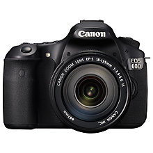 "Buy Canon EOS 60D Digital SLR Camera with 18-135mm IS Lens, HD 1080p, 18MP, 3"" LCD Screen Online at johnlewis.com"
