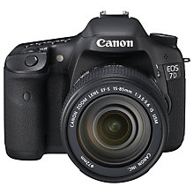 "Buy Canon EOS 7D Digital SLR Camera with 15-85mm EF-S Lens, HD 1080p, 18MP, 3"" LCD Screen Online at johnlewis.com"