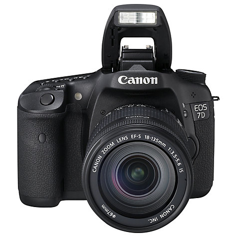 "Buy Canon EOS 7D Digital SLR Camera with 18-135mm EF-S Lens, HD 1080p, 18MP, 3"" LCD Screen Online at johnlewis.com"