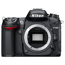 "Buy Nikon D7000 Digital SLR Camera, HD 1080p, 16.2MP, 3"" LCD Screen, Black, Body Only with 16GB + 8GB Memory Card Online at johnlewis.com"
