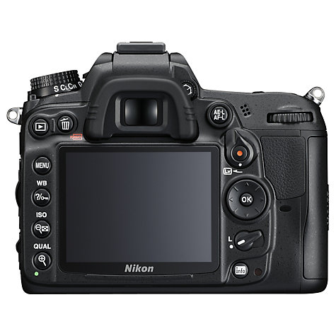 "Buy Nikon D7000 Digital SLR Camera, HD 1080p, 16.2MP, 3"" LCD Screen, Black, Body Only Online at johnlewis.com"