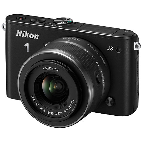 Buy Nikon 1 J3 Compact System Camera with 10-30mm & 30-110mm Lens, HD 1080p, 14.2MP, 3 LCD Screen Online at johnlewis.com