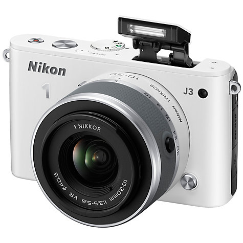 "Buy Nikon 1 J3 Compact System Camera with 10-30mm & 30-110mm Lens, HD 1080p, 14.2MP, 3"" LCD Screen Online at johnlewis.com"