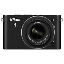 "Buy Nikon 1 J3 Compact System Camera with 10-30mm Lens, HD 1080p, 14.2MP, 3"" LCD Screen Online at johnlewis.com"