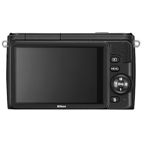 Buy Nikon 1 S1 Compact System Camera with 11-27.5mm Lens, HD 1080p, 10.1MP, 3 LCD Screen, Black Online at johnlewis.com
