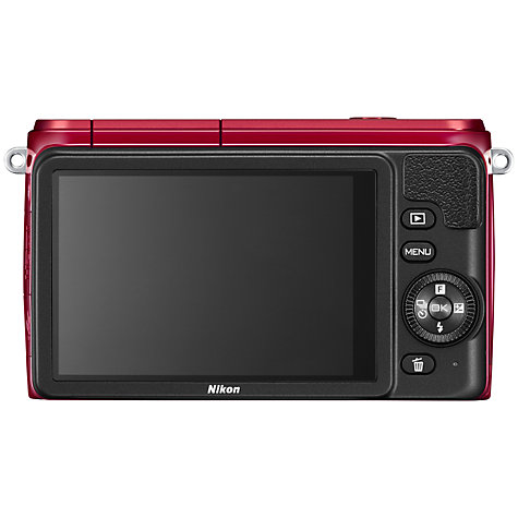 "Buy Nikon 1 S1 Compact System Camera with 11-27.5mm Lens, HD 1080p, 10.1MP, 3"" LCD Screen, Black Online at johnlewis.com"