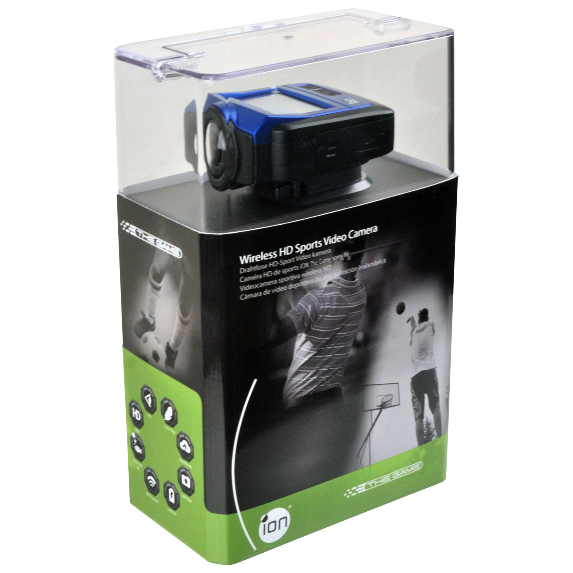 "Ion The Game Camcorder, Hd 1080p, 16mp, Wi-fi, 2"" Lcd Screen, Black"