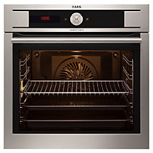 Buy AEG BY9314001M Culisense Single Electric Oven, Stainless Steel Online at johnlewis.com