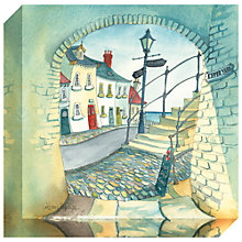 Buy Catherine Stephenson - Kipper Yard Print on Canvas, 30 x 30cm Online at johnlewis.com