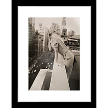 Buy Getty Images Gallery Marilyn Monroe on Roof Framed Print, 57 x 50cm Online at johnlewis.com
