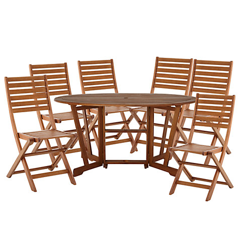 Buy John Lewis Naples 6 Seater Oval Outdoor Set Online at johnlewis.com