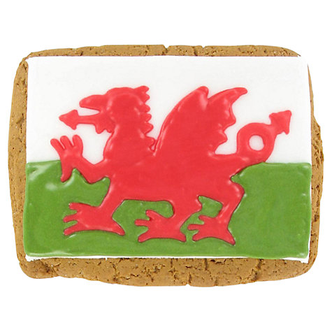 Buy Image on Food Welsh Flag Biscuit, 70g Online at johnlewis.com