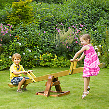 Buy Plum Premium Wooden SeeSaw Online at johnlewis.com