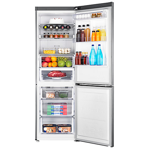 Buy Samsung RB31FERNBSS Fridge Freezer, A+++ Energy Rating, 60cm Wide, Brushed Steel Online at johnlewis.com