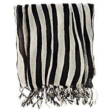 Buy Warehouse Zebra Striped Scarf Online at johnlewis.com