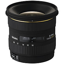 Buy Sigma 10-20mm f/4-5.6 EX DC HSM Ultra Wide Angle Lens, Canon Fit Online at johnlewis.com