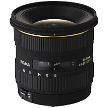 Buy Sigma 10-20mm f/4-5.6 EX DC HSM Ultra Wide Angle Lens, Nikon Fit Online at johnlewis.com