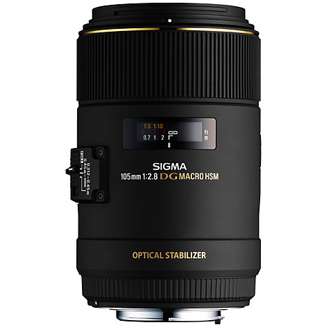 Buy Sigma 105mm f/2.8 EX DG OS HSM Telephoto Macro Lens, Canon Fit Online at johnlewis.com