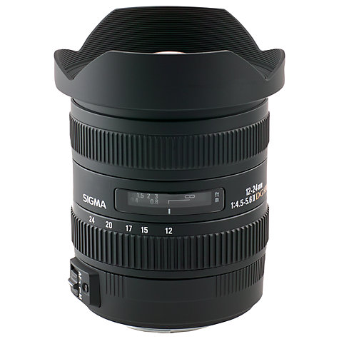 Buy Sigma 12-24mm f/4-5.6 EX DG OS HSM Ultra Wide Angle Lens, Canon Fit Online at johnlewis.com
