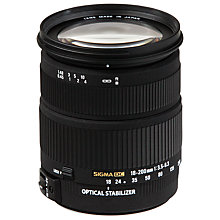 Buy Sigma 18-200mm f/3.5-6.3 DC OS II HSM Telephoto Lens, Nikon Fit Online at johnlewis.com