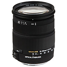 Buy Sigma 18-200mm f/3.5-6.3 DC OS II HSM Telephoto Lens, Canon Fit Online at johnlewis.com