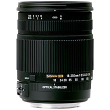 Buy Sigma 18-250mm f/3.5-6.3 DC Macro OS HSM Telephoto Lens, Canon Fit Online at johnlewis.com