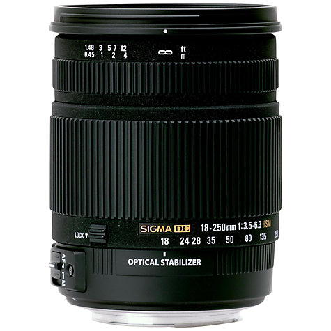 Buy Sigma 18-250mm f/3.5-6.3 DC Macro OS HSM Telephoto Lens, Nikon Fit Online at johnlewis.com