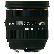 Buy Sigma 24-70mm f/2.8 EX DG IF HSM Telephoto Lens, Nikon Fit Online at johnlewis.com