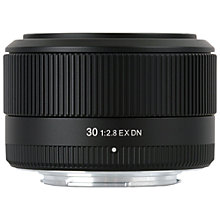 Buy Sigma 30mm f/2.8 EX DN Standard Lens, Sony E Fit Online at johnlewis.com