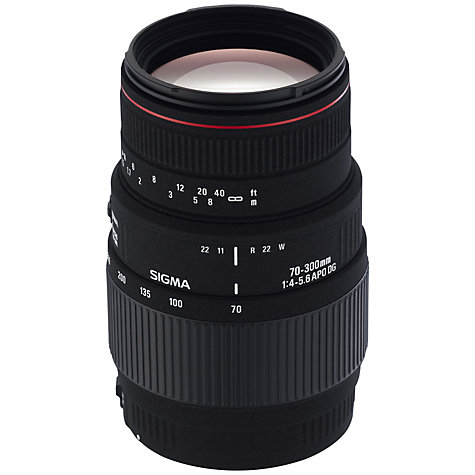 Buy Sigma 70-300mm f/4-5.6 APO DG Telephoto Macro Lens, Canon Fit Online at johnlewis.com