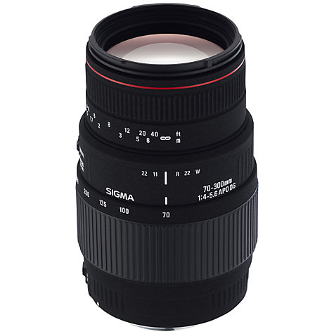 Buy Sigma 70-300mm f/4-5.6 APO DG Telephoto Macro Lens, Nikon Fit Online at johnlewis.com