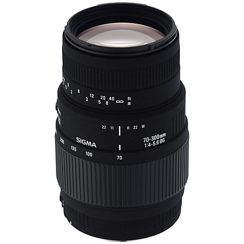 Buy Sigma 70-300mm f/4-5.6 DG Telephoto Macro Lens, Canon Fit Online at johnlewis.com