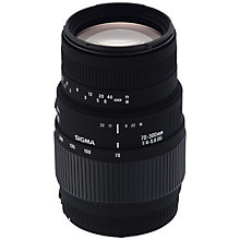 Buy Sigma 70-300mm f/4-5.6 DG Telephoto Macro Lens, Nikon Fit Online at johnlewis.com
