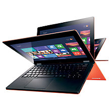 "Buy Lenovo Yoga Convertible Laptop, 64GB, Wi-Fi, Quad-Core Tegra 3, 1.3GHz, 11.6"" Touch Screen, Orange Online at johnlewis.com"
