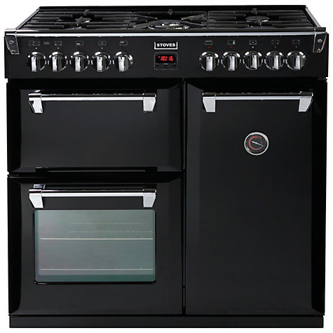 Buy Stoves Richmond 900DFT Dual Fuel Range Cooker, Black Online at johnlewis.com