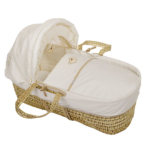 Buy Clair de Lune Dream Bear Moses Basket, Cream Online at johnlewis.com