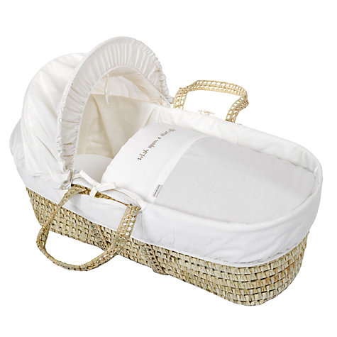 Buy Clair de Lune Wish Upon a Star Moses Basket, Cream Online at johnlewis.com