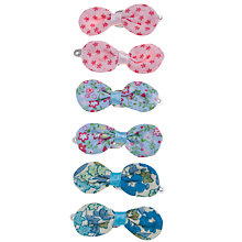 Buy John Lewis Girl Mini Ditsy Flower Bow Clips, Pack of 6, Multi Online at johnlewis.com